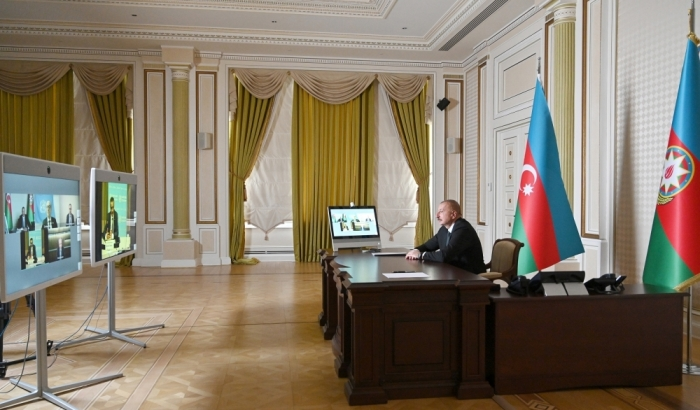 President Ilham Aliyev met with WHO Director General in format of videoconference