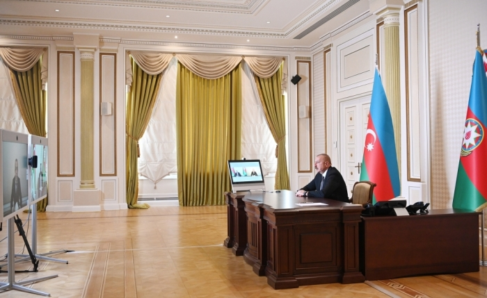 President Ilham Aliyev received in a video format Zaur Mikayilov - VIDEO