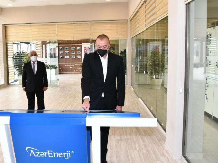 President Ilham Aliyev inaugurates newly renovated two substations