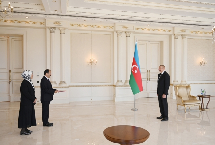 President Ilham Aliyev received credentials of incoming Turkish ambassador