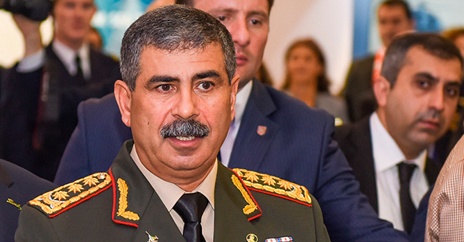 Azerbaijan's Defense Minister visited air defense units deployed in the liberated territories