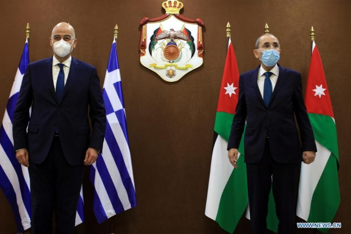 Jordan, Greece stress two-state solution to Israeli-Palestinian conflict