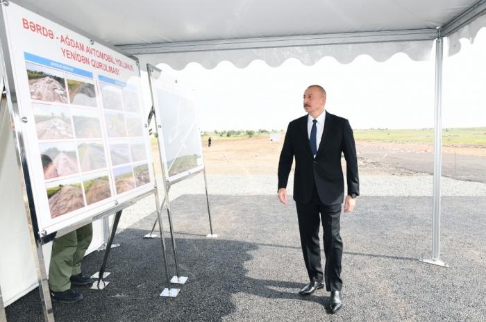 Ilham Aliyev's visit to Aghdam