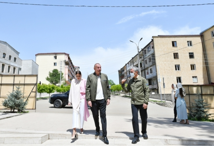 President Ilham Aliyev visited Yukhari Govharagha mosque in Shusha - VIDEO