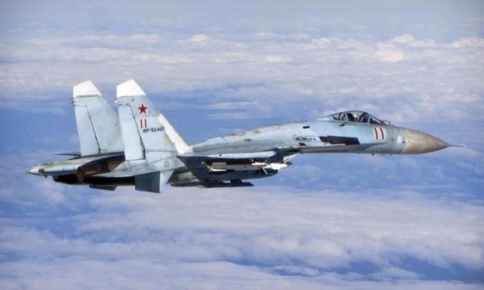 Russian Su-27 scrambled