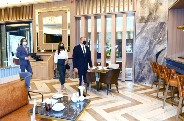 Ilham Aliyev attended inauguration of Intercontinental hotel in Baku