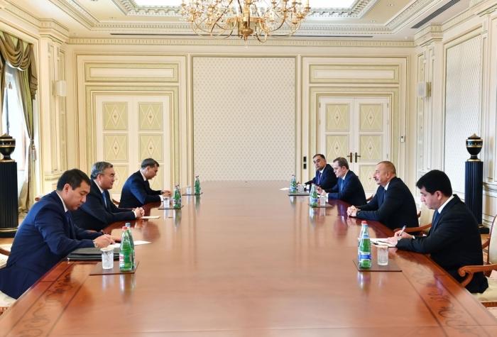 President Ilham Aliyev received Kazakh deputy prime minister