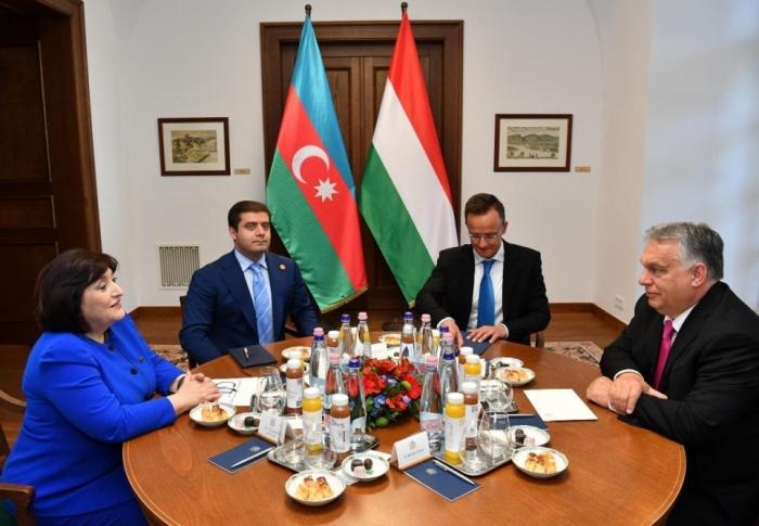 Speaker of Azerbaijani Milli Majlis meets with Hungarian Prime Minister