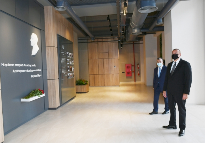 Ilham Aliyev attended inauguration of DOST center