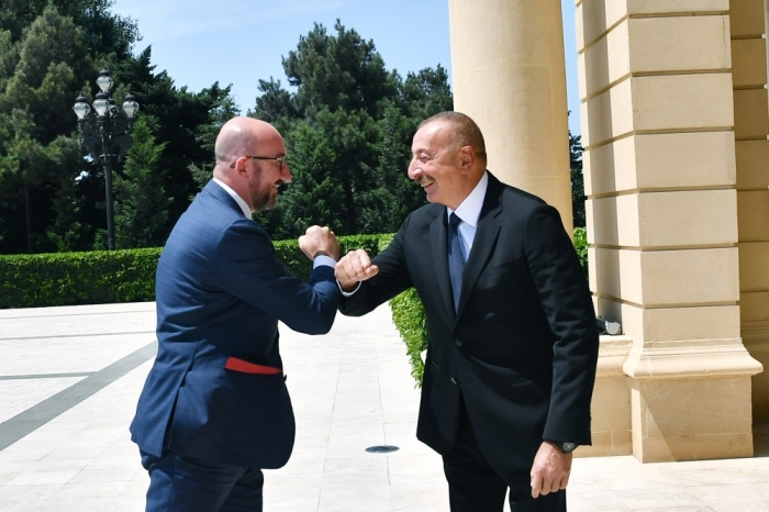 Ilham Aliyev and Charles Michel had joint working dinner