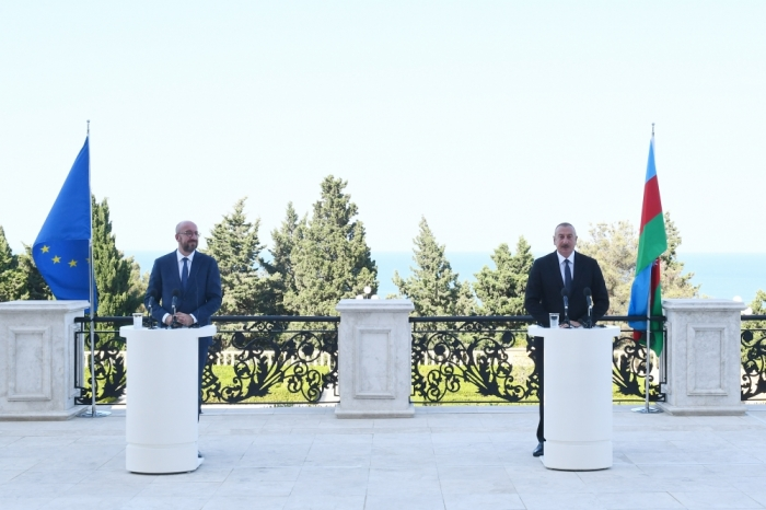 Ilham Aliyev,  Charles Michel gave joint press conference