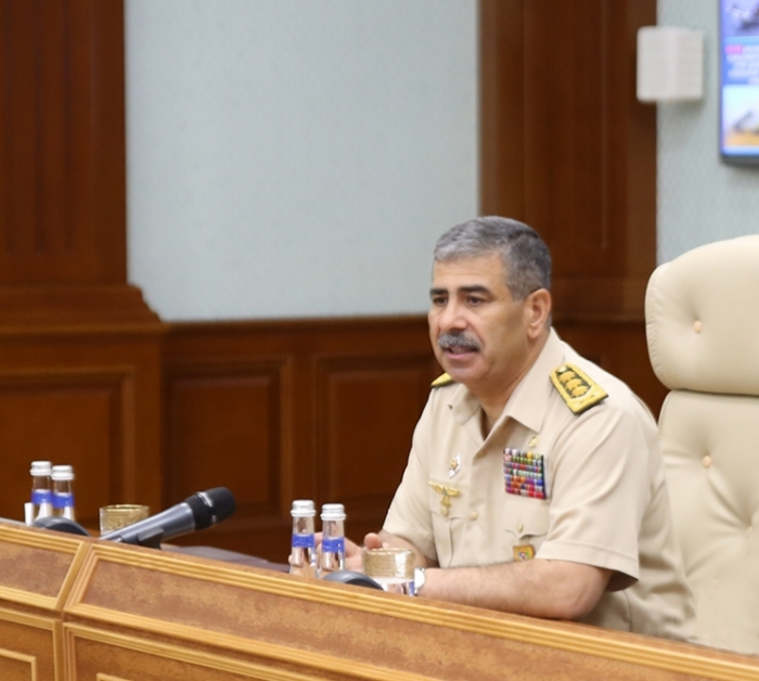 General Zakir Hasanov at the Central Command Post