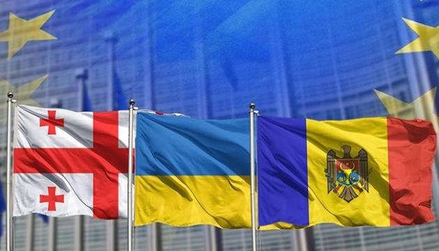 Georgia, Ukraine and Moldova on the path of EU integration