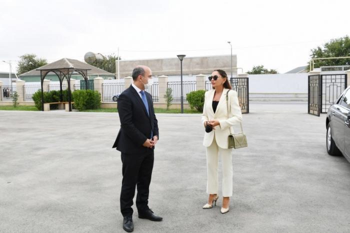Mehriban Aliyeva views conditions created at newly built school No. 88