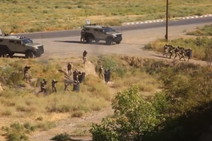 Counter terrorism exercise held in Special Forces Units of Combined Arms Army - VIDEO